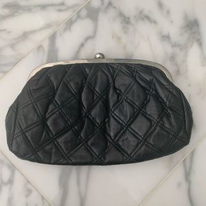 H&M Quilted black clutch bag